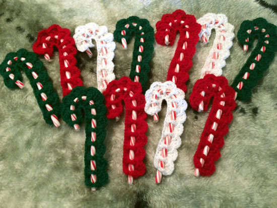 Victorian Candy Cane Cover Free Crochet Candy Cane Pattern
